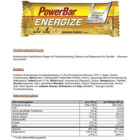 PowerBar Energize Riegel Box Banana Punch 25 x 55g